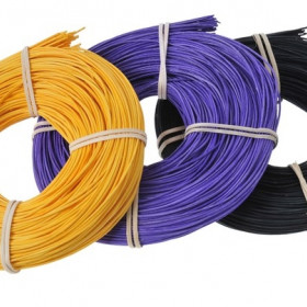 RCRDCL-1,5 Rattan  1.5mm 75g  golden yellow, violet, black