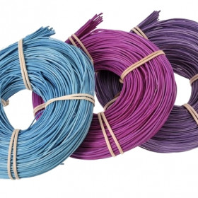RCRDCL-1,5 Rattan  1.5mm 75g sky blue, bright purple (2593), lilac (2655U)